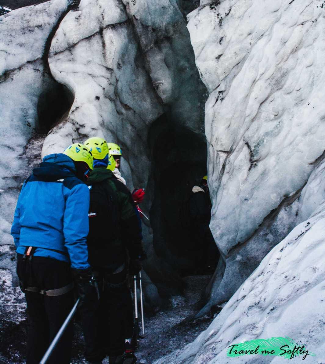 cueva de hielo escalada