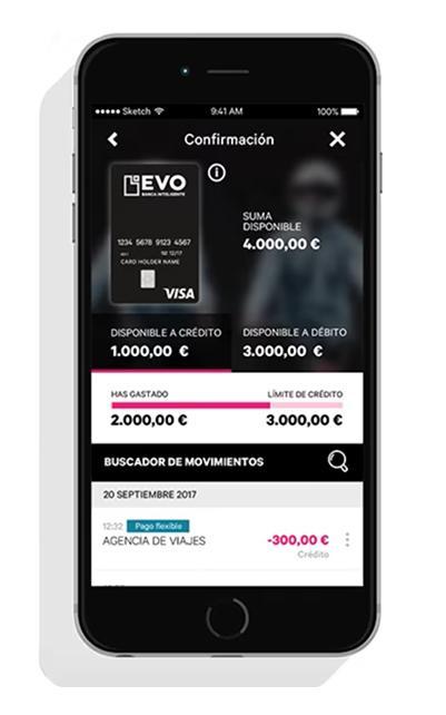 viajar con EVO bank app