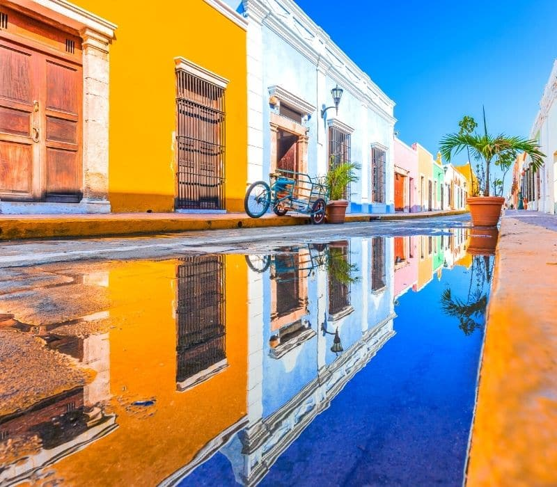 Colorful colonial town