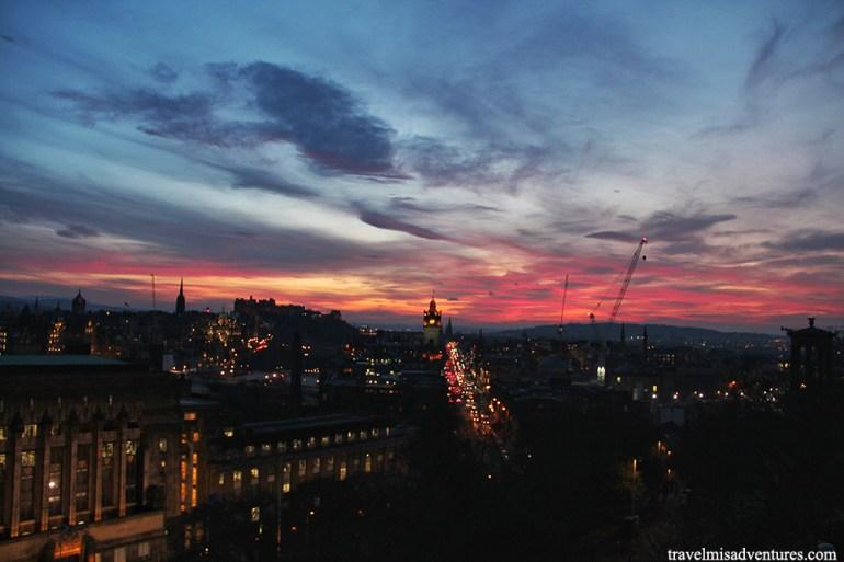 Scozia itinerario Edimburgo tramonto