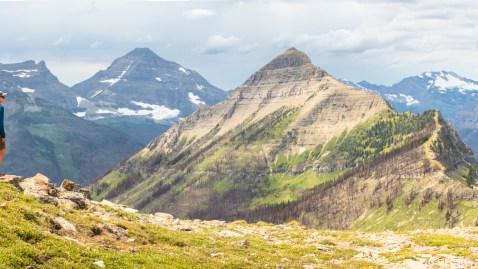 Hikers at Cutbank Pass