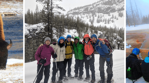 Yellowstone snowshoe vacation