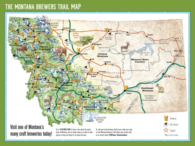 Map of Montana Breweries