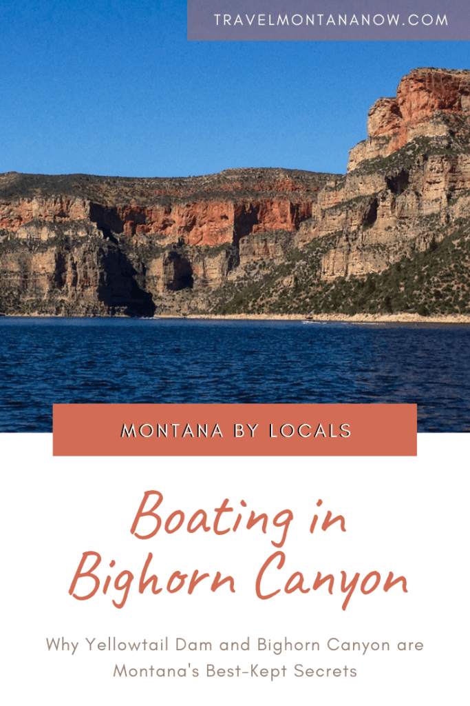Learn why Bighorn Canyon is Montana's best kept secret and why it's a must-visit for water recreation like boating, cliff jumping, and water skiing. #easternmontana #bighorncanyon #yellowtaildam