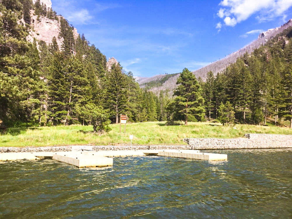 Boat Launch Area at Coulter Campground on Holter Lake in Montana