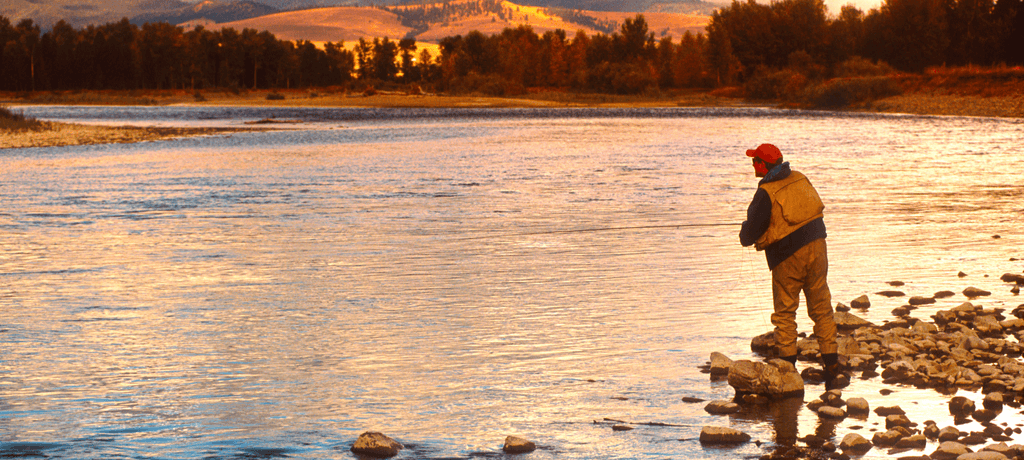 Fly fisherman in Montana