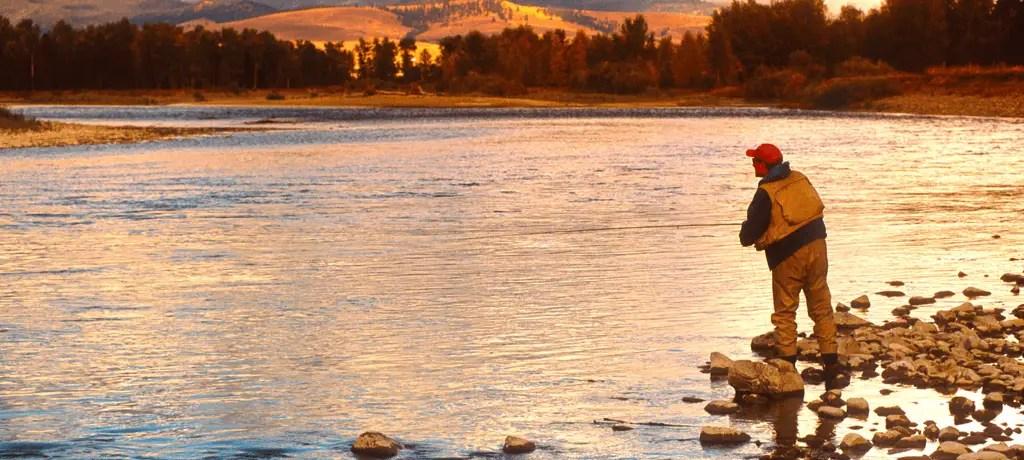 Fly fisherman in Montana
