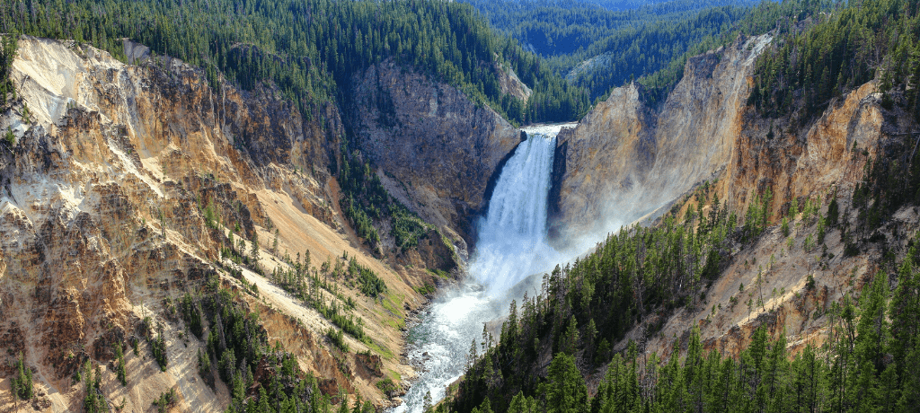 Yellowstone Falls in Yellowstone National Park