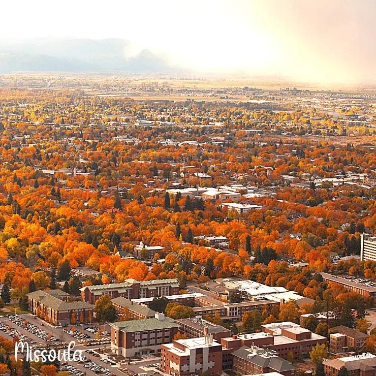 Missoula, Montana in fall.