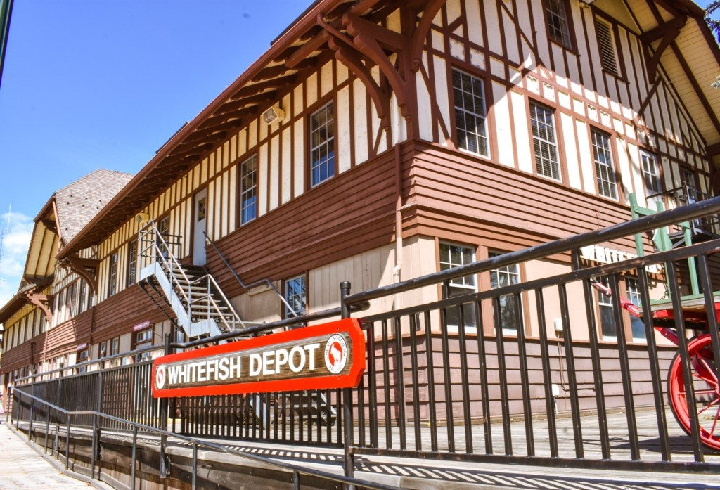 Walking around Whitefish Depot is one of the top things to do in Whitefish, Montana.
