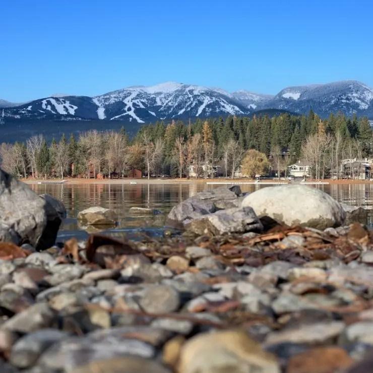 Whitefish Lake with the Ski Resort in Background
