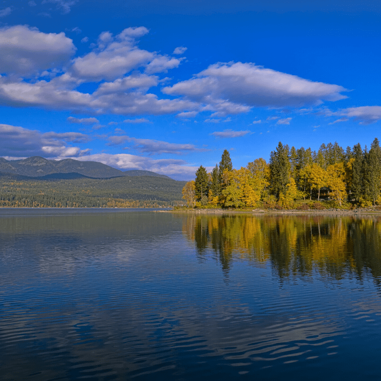 Whitefish Lake Near Glacier National Park in Montana