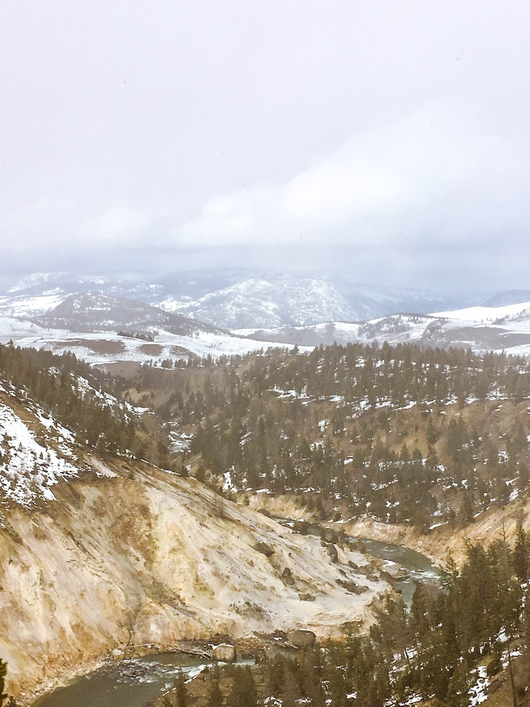 Yellowstone views during a late March cross-country ski trip