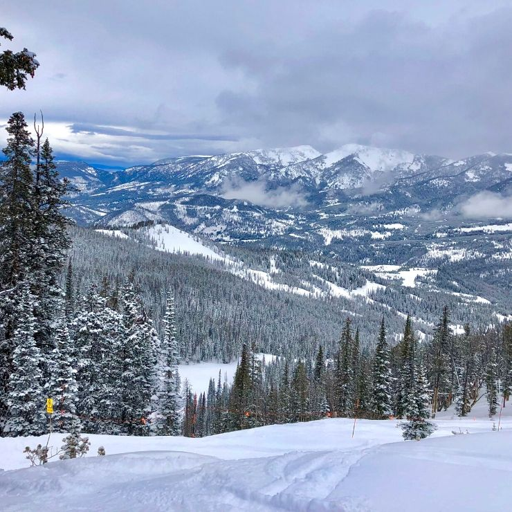 Ski runs at Big Sky Resort, one of the best places to ski in Montana. If you love snow adventure, skiing is easily one of the best things to do in Montana.