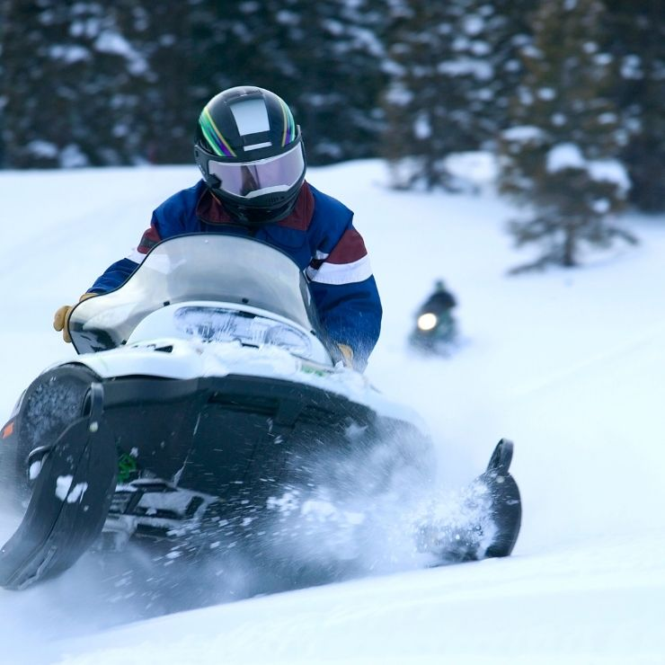 Snowmobiling is a fun winter activity to do in Montana