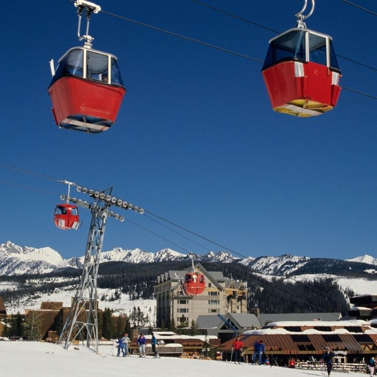 Big Sky Resort Chairlift and Ski Run