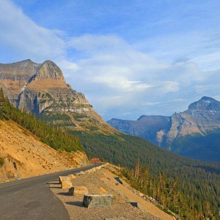 Going-to-the-Sun Road in Glacier National Park, Glacier is one of the most popular vacation spots in Montana.