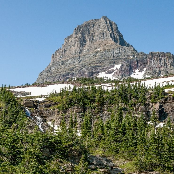 Logan Pass along the Going-to-the-Sun Road in Glacier National Park
