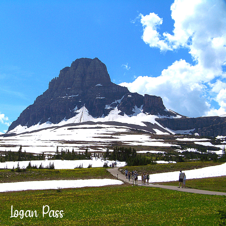 Logan Pass along Going-to-the-Sun Road in Glacier National Park.