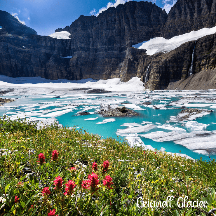 Grinnell Glacier is one of the most famous sights in Glacier National Park.