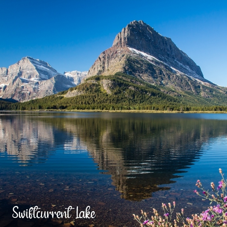 Swiftcurrent Lake is one of the most beautiful lakes in Glacier National Park and the lodge on its shore is one of the best places to stay within the park.