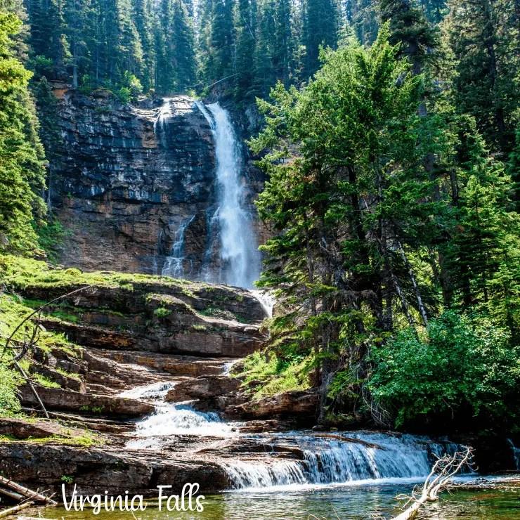 Virginia Falls on the east side of Glacier National Park.