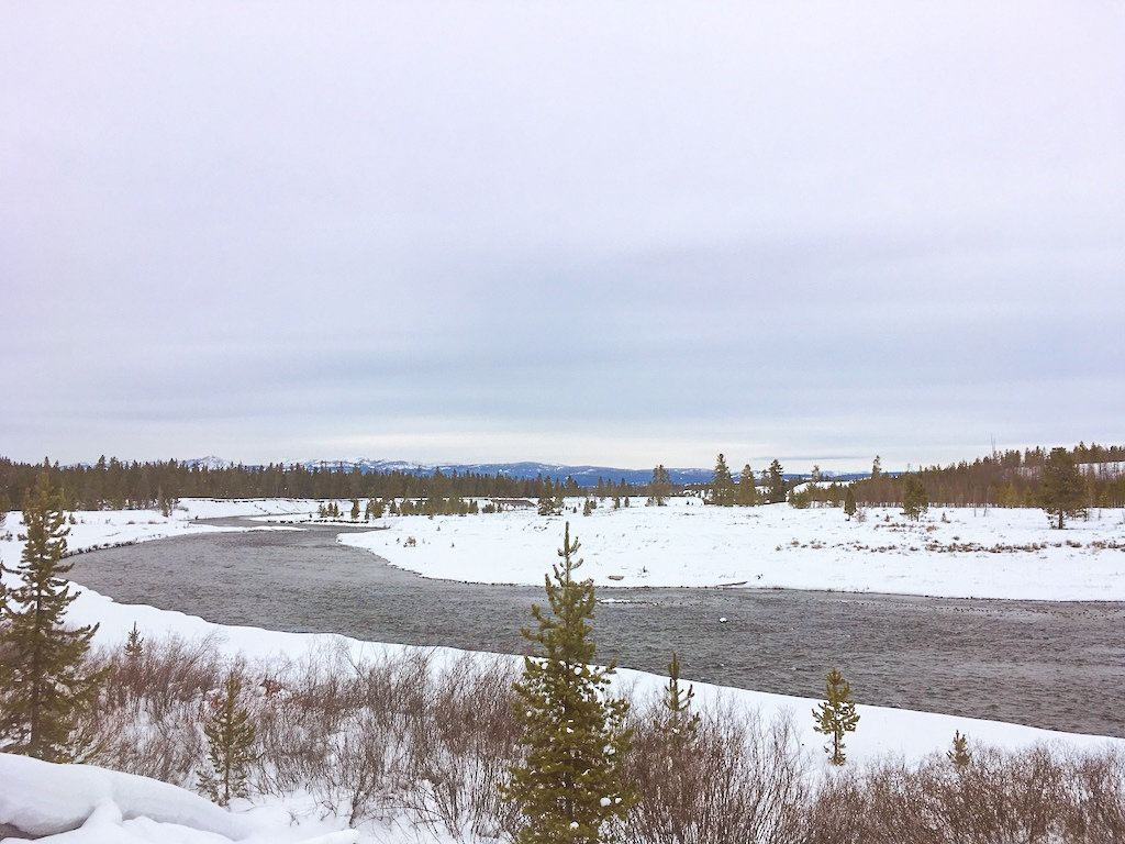 Cross Country Skiing in Yellowstone National Park.
