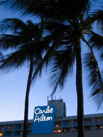 """this sign with the palms just screams """"tropical paradise!"""""""