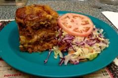Pastelón (sweet plantain lasagna) at Cafe Manolín