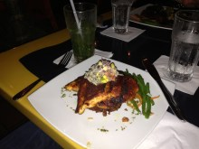 dinner at Parrot Club