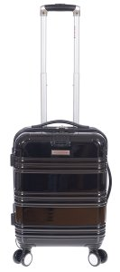AIR CANADA 20 CARRY ON HARDSIDE ROLL ABOARD SUITCASE BLACK C0616S3 Front Handle