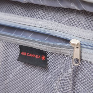 AIR CANADA 24 SOFTSIDE UPRIGHT SUITCASE CHARCOAL C0629 Inside