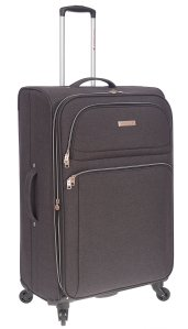 AIR CANADA 28 SOFTSIDE UPRIGHT SUITCASE CHARCOAL C0629 Side