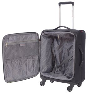 AIR CANADA BUSINESS ROLLER AND LAPTOP BACKPACK 2 PIECE LUGGAGE SET BLACK C0610S2 Inside Luggage