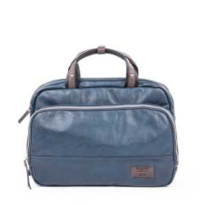 BUGATTI MOTO D BRIEFBAG IN SYNTHETIC LEATHER BLUE 49825705-Blue Front