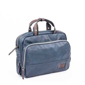 BUGATTI MOTO D BRIEFBAG IN SYNTHETIC LEATHER BLUE 49825705-Blue Side