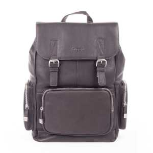 BUGATTI SARTORIA BACKPACK LEATHER BROWN 49546302-Brown Front