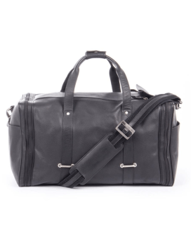 Bugatti Bello Leather Duffel Bag Black travel n Gear