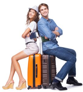 Luggage couple travel gear