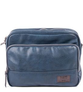 Bugatti Moto D Messenger Bag In Synthetic Leather Blue 4982505 Front
