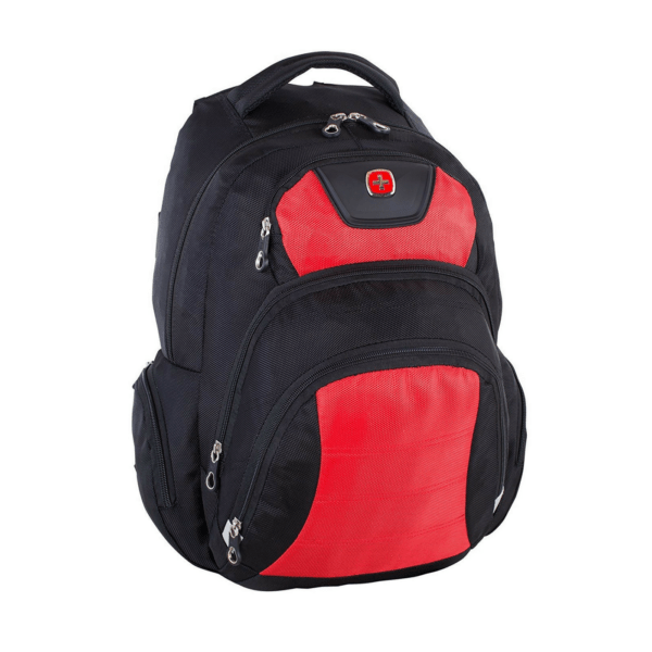6a50fa4bea Swiss Gear Polyester Backpack Red-Black SWA2512-167 Front 1