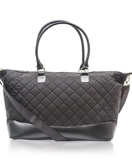 Cosmopolitan Quilted Weekender Bag B0377 COS Black Front