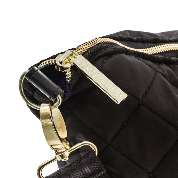 Cosmopolitan Quilted Weekender Bag B0377 COS Black Zipper