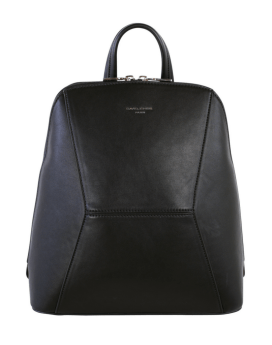 David Jones Angular PU Mini Backpack DJ2133 Black Front 1