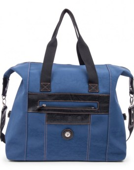 Mouflon Feathers Duffel Bag DUF3274 Indigo Blue Black Front