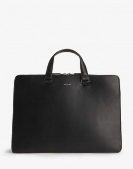 Matt and Nat David Briefcase Vintage Collection Black Front