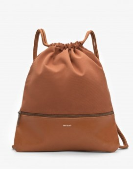 Matt and Nat Dory Drawstring Bag Canvas Collection Chili Front