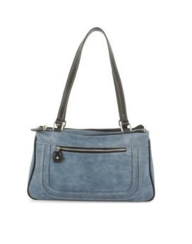Joanel Barbara Satchel SCH3405 Denim Front 1