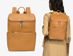 Matt-and-Nat-Brave-Backpack-Dwell-Collection-Sand-Model-Back