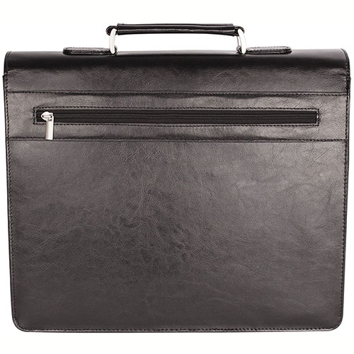 Bugatti Executive Leather 15.6 Laptop Briefcase EXB279 Black Back